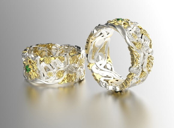 Silver-and-Gold-Rings