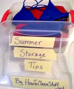 How to clean Outdoors: How to Store Your Summer Supplies