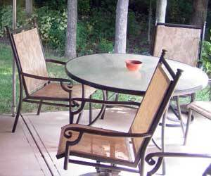 how to get rust off patio furniture